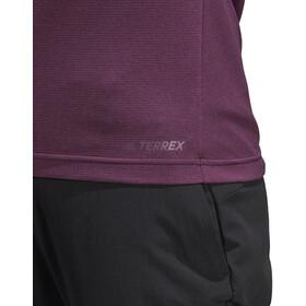 adidas TERREX TraceRocker Tee LS 1/2 Zip Women Red Night